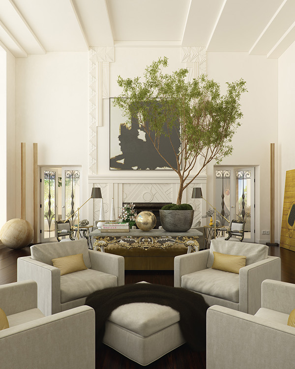 Modern salon 3d interior on interior design served for 3d salon design software
