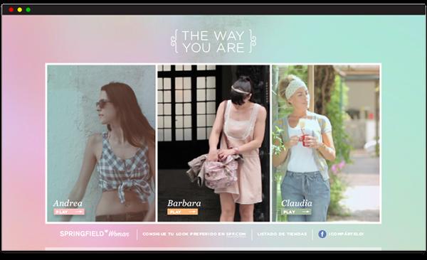 interactive digital UI ux ia Fashion