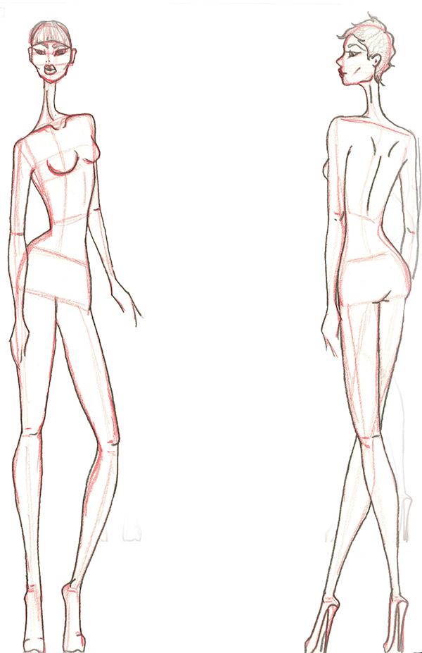 Fashion Sketch Templates Male