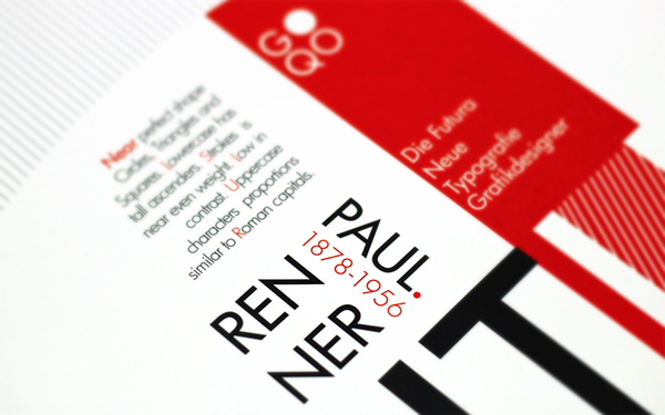 Poster Design - Futura & Paul Renner on Student Show