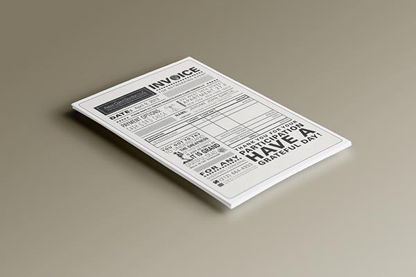 Event Invoice design Grateful Dead invoice print graphic type sales Event identity grateful dead receipt ticket sale