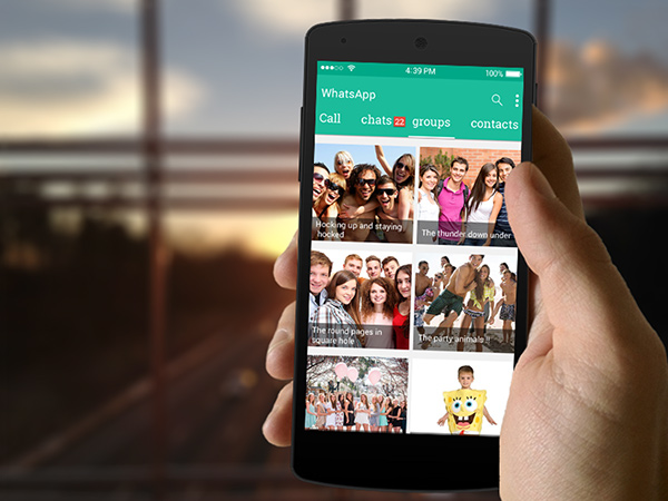 WhatsApp Redesign PSD Free Download on Student Show