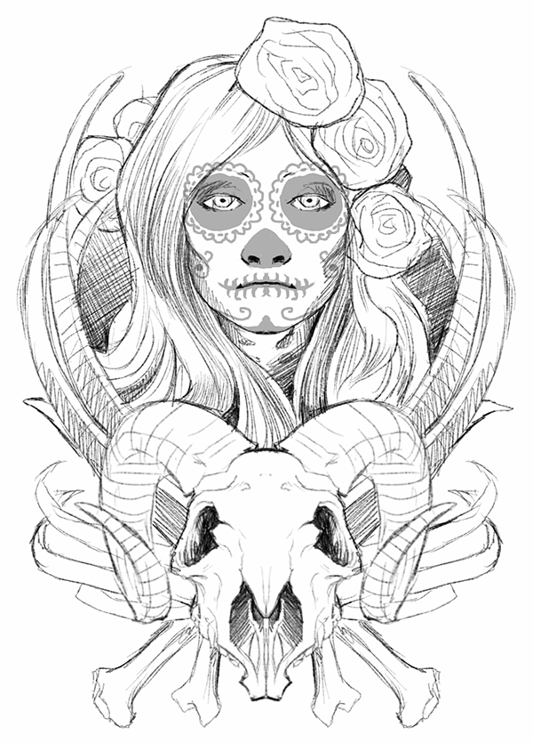 The Sugar Skull Lady On Behance