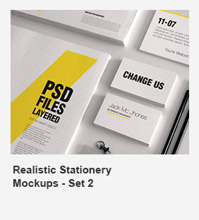 Realistic Stationery Mock-Up Set 1 - Corporate ID - 22