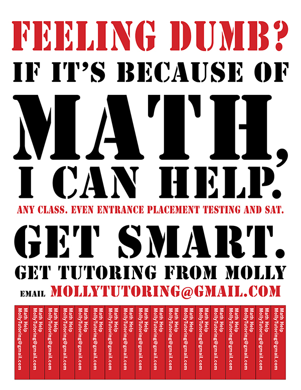 math tutor flyer