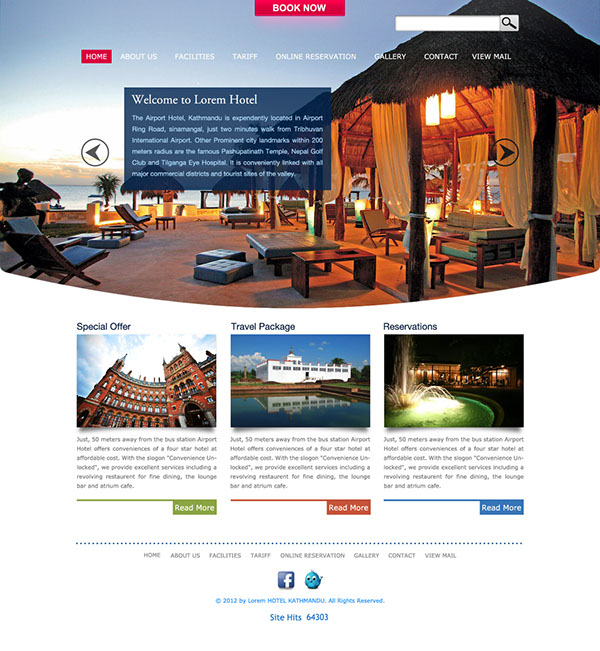 A Hotel Web Template Design On Student Show