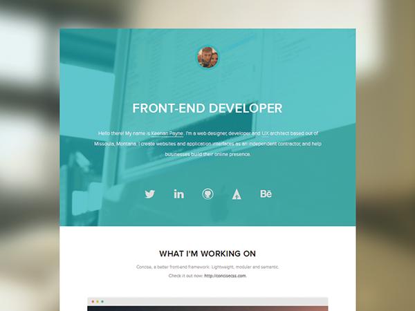 HTML html5 css css3 ui design UX design photoshop Illustrator portfolio personal Website notepad++
