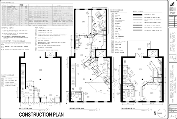 Construction documents residential design on behance for General notes for residential architectural drawings