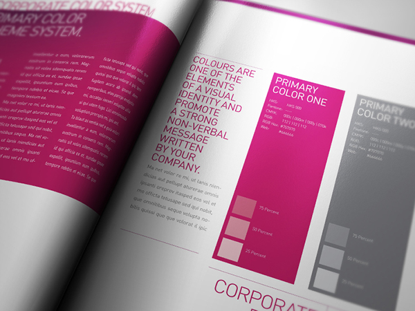 Corporate Design Manual Guide 28 Pages on Behance – Manual Design Templates