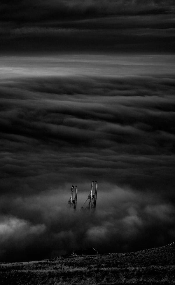Underland Ryno de Wet Landscape abandoned empty johann wilderness dark black & white