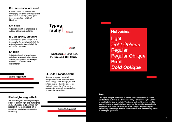 Typographic Terms Glossary on FIT Portfolios
