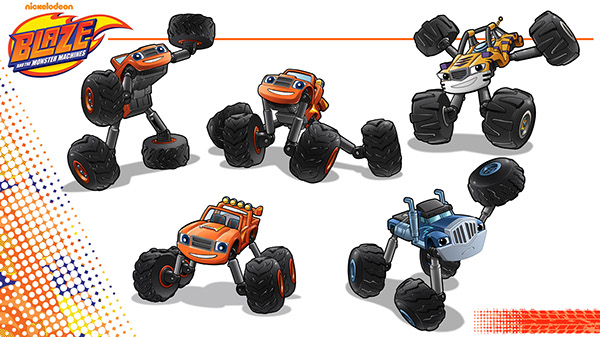 blaze and the monster machines toy product development on pantone
