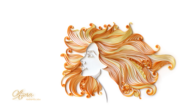paper quilling aura on behance