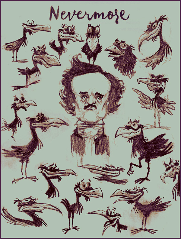 Poe + Ravens by Marco Augusto Chiabo