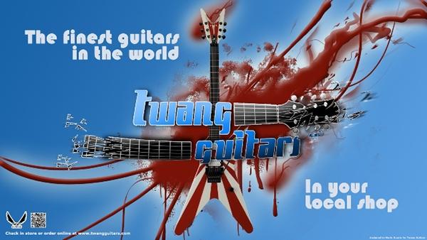 Twang Guitars Banner Adds On Pantone Canvas Gallery