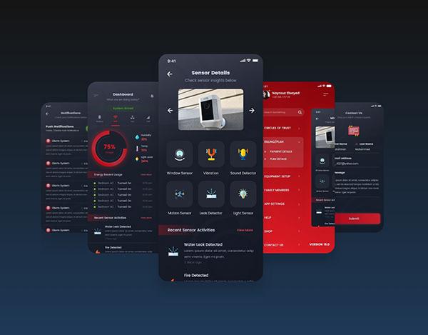 Olarm App UI/UX Design