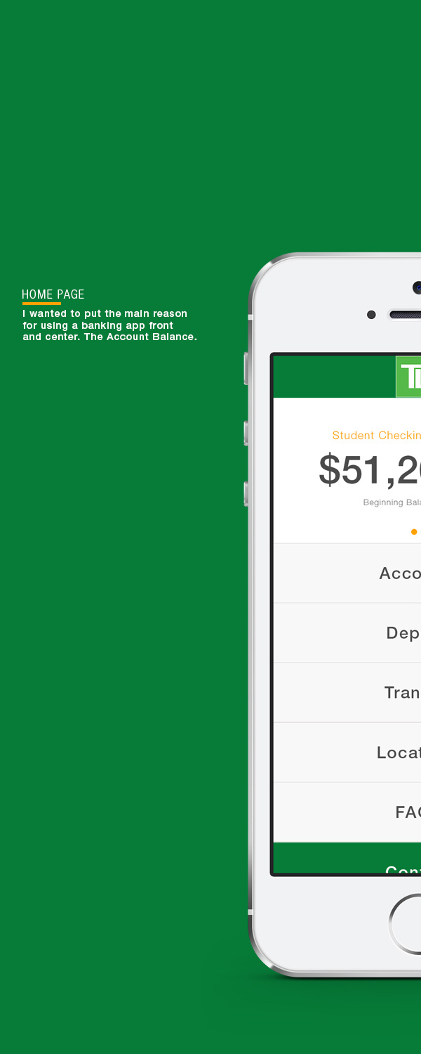 TD Bank Redesign Concept on Behance