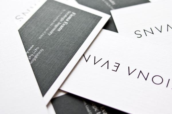Business Cards foil triplex print