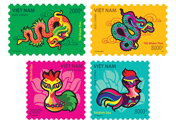 Vietnam Tet Stamps On Student Show
