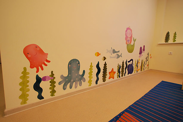 Wall Decoration Kindergarten : Wall decor kindergarten on behance