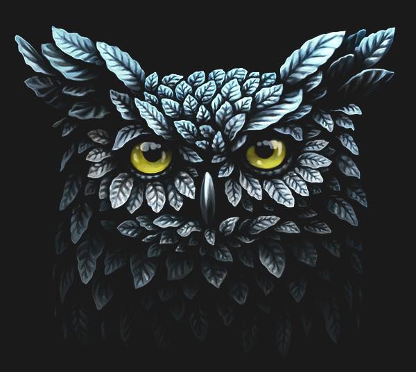 lion owl deer