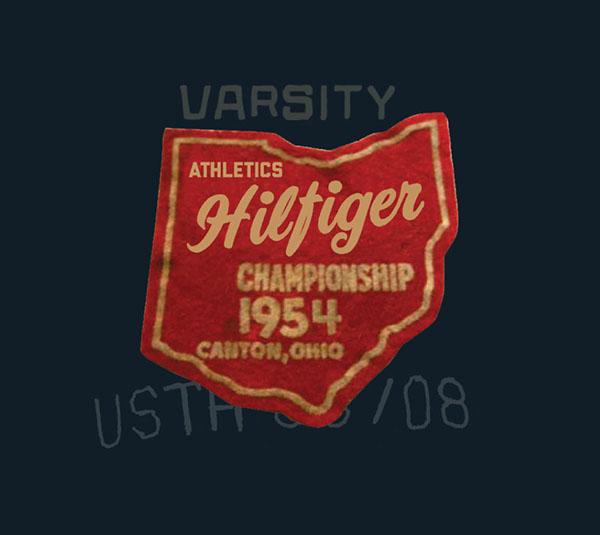 hilfiger patches  vintage