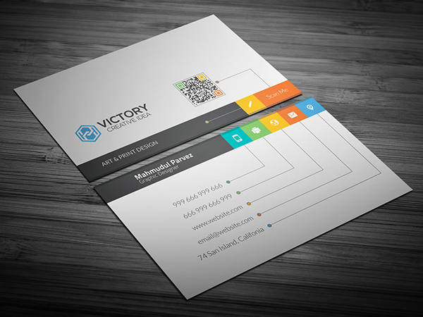 Free i creative business card on behance reheart Choice Image