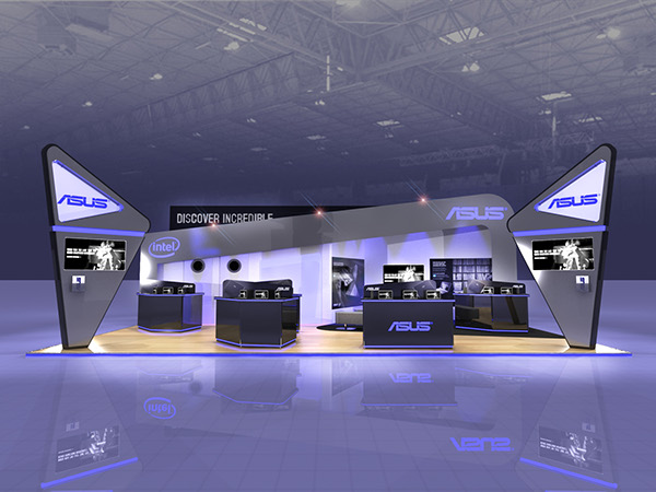 3d Exhibition Stand Design Software : Asus exhibition stand design on behance