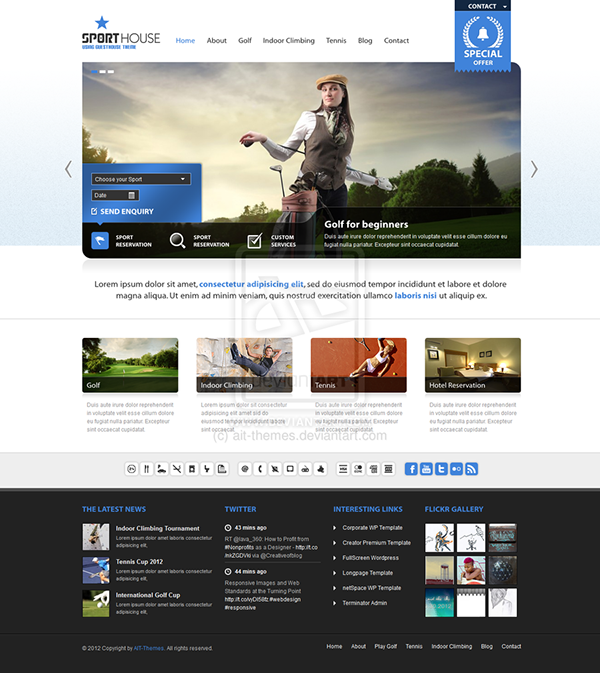 Guesthouse - Hotel & Sport Center 2in1 Premium Theme on Behance