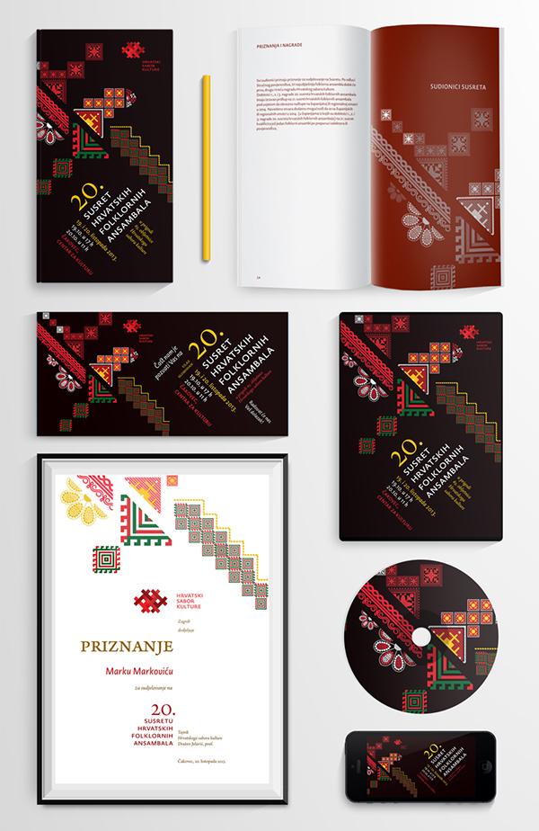 Event brochure design Poster Design dvd cover design invitation design concert Flyer Design tamburitza vocal ensembles Croatian Cultural Association Hsk