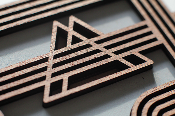 wood,Lasercut,marquetry,Exhibition ,sergeant,paper,talkie,walkie,geometric,stylised