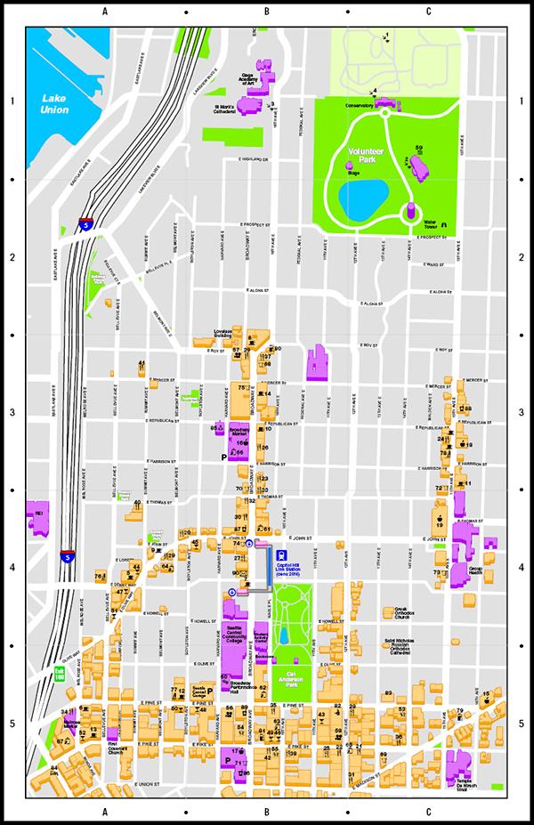 Map Capitol Hill Neighborhood Seattle On Behance