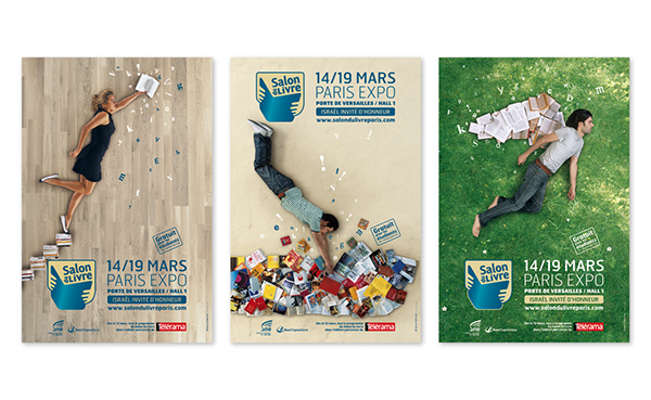 paris book fair poster on behance