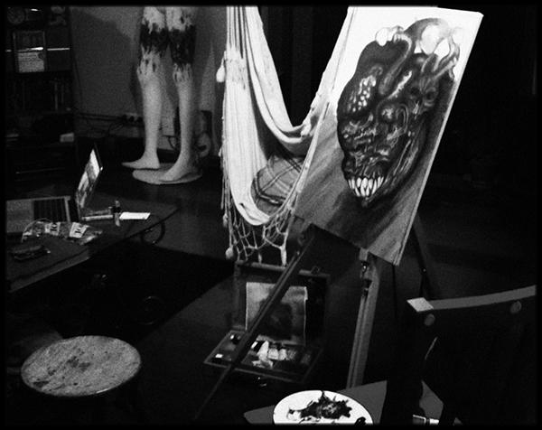 funboydamn POSTATOMICART macabre dark paint decay surrealism horror anatomy heart