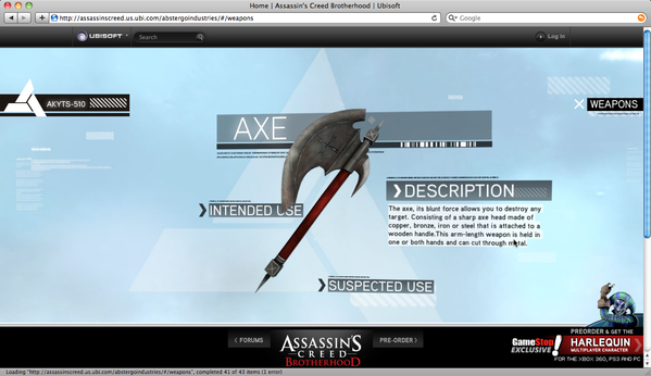 ubisoft Assassin's Creed cutwater