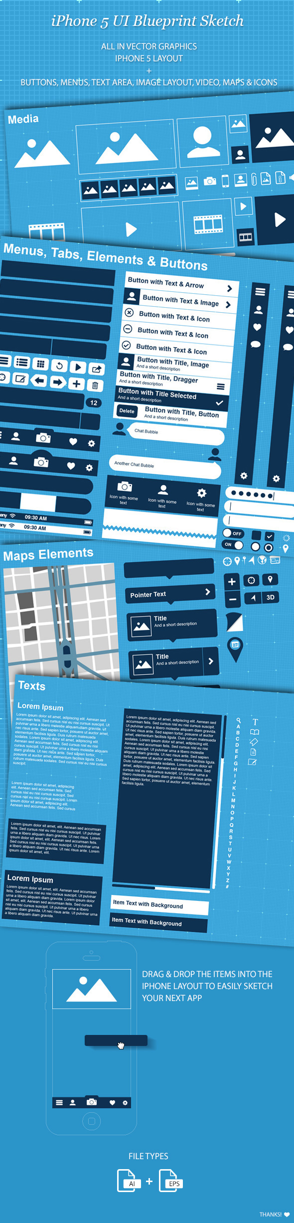 Iphone 5 ui gui blueprint app sketch on behance malvernweather Image collections