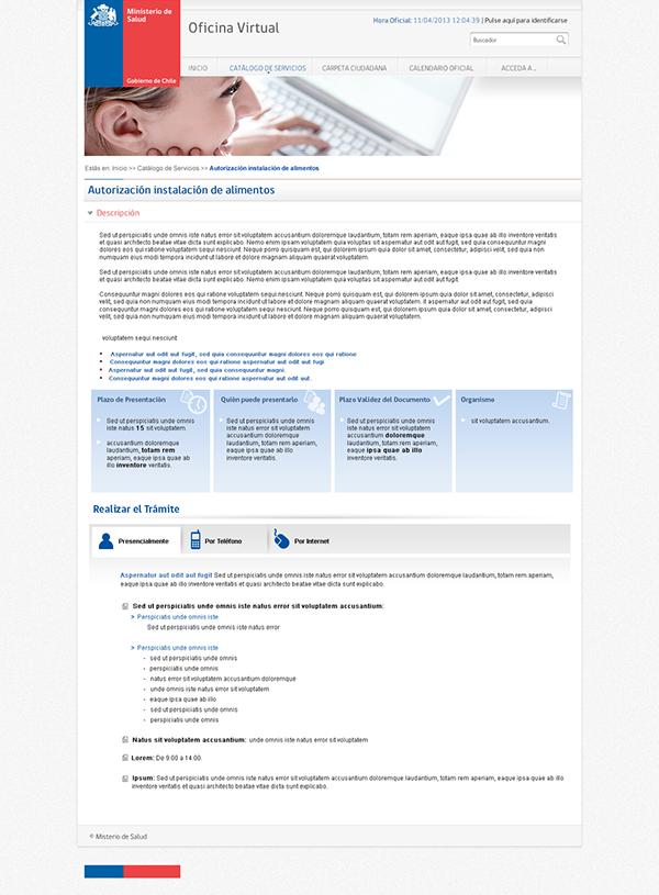 Oficina virtual ministerio de salud gobierno de chile on for Oficina virtual ministerio de hacienda