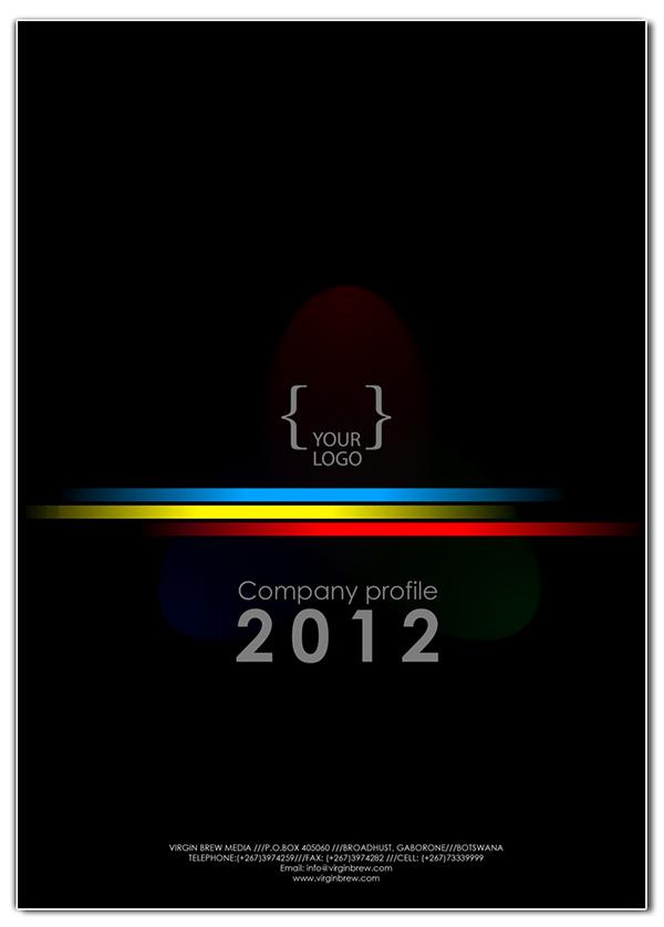 template company profile design