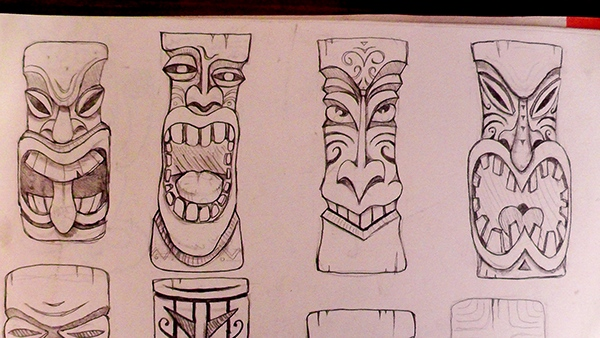 Tiki Head On Behance