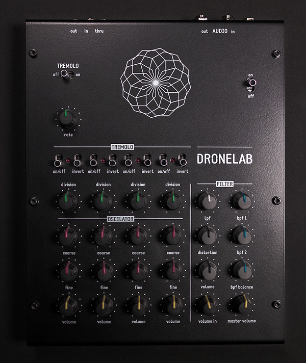 user interface ui design analog synth dronelab