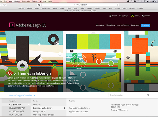 Adobe InDesign Tutorial Content on Behance