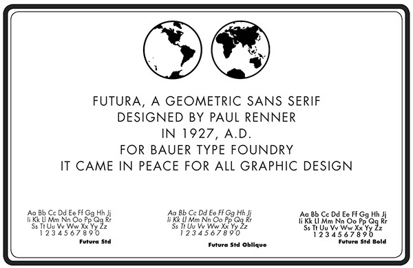 Futura: the first typeface in space on RISD Portfolios