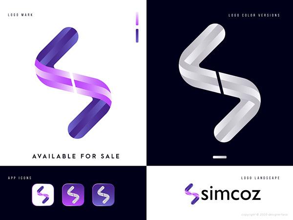 Letter S Modern Abstract Logo Design - S logo