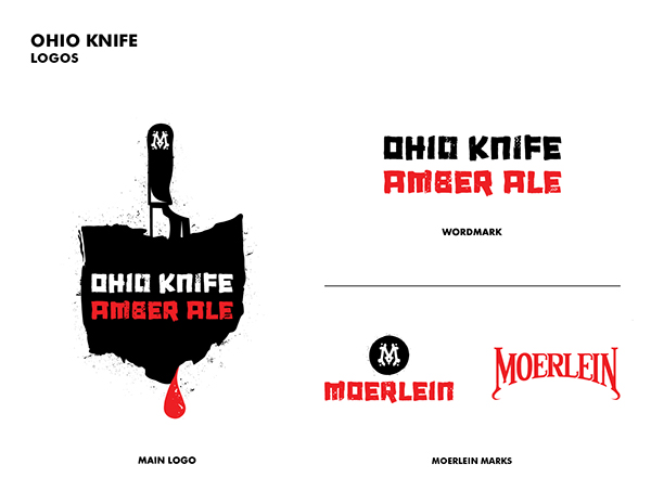 Ohio Knife Amber Ale Release Identity and Branding on