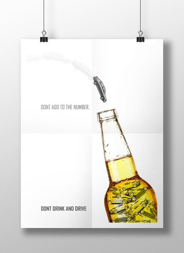don u0026 39 t drink and drive posters on behance