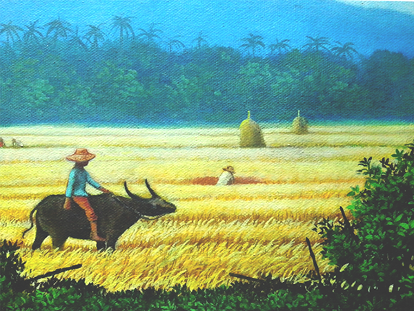 Painting Harvest Scenery In The Philippines  On Behance