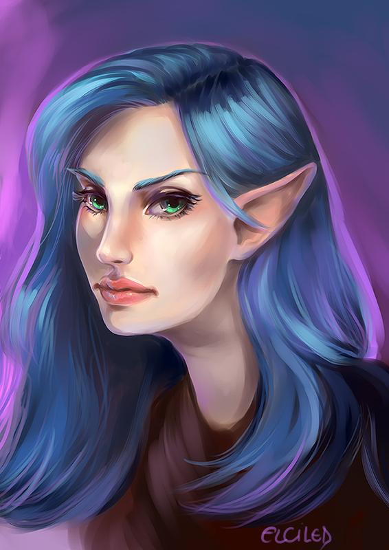 elf portrait rpg portrait digital painting Game Art