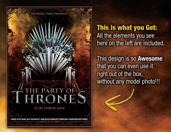 party of thrones medieval flyer template on behance