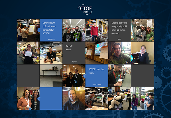conference visual design user experience register flow photo wall Responsive