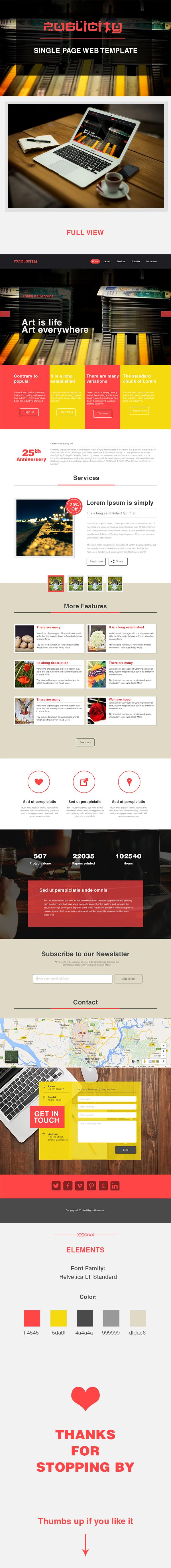 Website web layout one pahe gesign UI ux signle page design web page mock up Modern Design Agency website service provider website clean layout elehant 960 Grid Wide screen
